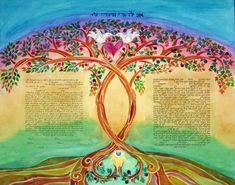Custom Ketubah  Ketubahs  Jewish Marriage by AmitJudaicaArt