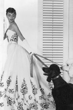"""Audrey Hepburn in the film """"Sabrina"""" dressed in Givenchy"""