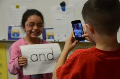 Classroom at Pachappa using iPods in conjunction with reading
