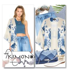 """kimono"" by assamite-mit ❤ liked on Polyvore featuring Leslie Danzis, Chicnova Fashion, BCBGeneration, Warehouse, MICHAEL Michael Kors, Bottega Veneta and kimonos"