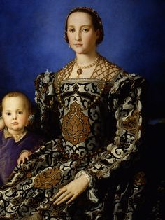 Bronzino - Eleanora of Toledo and her son Giovanna di Cosimo de' Medici, 1545 (NB this image is slightly cropped - when I find a better one I will pin it)