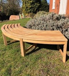 This Curved FSC® Certified Backless Bench is hand made from teak with a quality finish. Great for commercial and domestic buyers and delivered free in the UK. Curved Patio, Curved Bench, Small Courtyard Gardens, Small Courtyards, Patio Design, Garden Design, Outside Benches, Teak Garden Furniture, Cost Of Goods