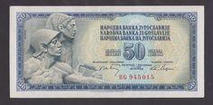 YUGOSLAVIA   50 Dinara 1968 XF+ P83a   Rare BAROQUE  type serial number.