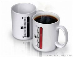 Coffee fuel indicator mugs! #Tech