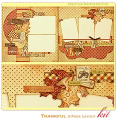 scrapbook layouts fall | paisleys and polka dots scrapbooking mini album kits with instructions ...