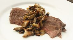 SHROOM FOR IMPROVEMENT: Steak and mushrooms get a modern update   Pan-Roasted Hanger Steaks with Mushroom Condiment   Recipe adapted from Michael Santoro, The Mildred, Philadelphia, PA via PureWow