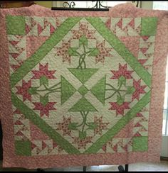 Four Block Carolina Lily, made by Kimberly Flannagan.