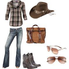 """cowgirl style."" by loopdeeloop12 on Polyvore"