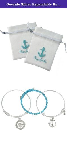 cool Oceanic Silver Expandable Kona Stack Bracelet Set. We know you'll love the Kona Stacking Bracele... Fashion designers Check more at http://pinfashion.top/pin/68283/