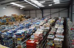 This view across a sea of kits is one of my favourite sights! Thousands of new and discontinued items all under one roof - have you ever seen a stash like it?