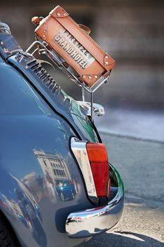 Firenze Grand Hotel luggage sticker on a Fiat 500 in Belgrade, Serbia
