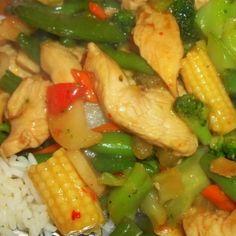 Honey - Garlic - Chicken Stir Fry