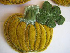 Halloween chic pumpkin brooch. $25.00, via Etsy.