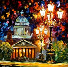 TWINKLING OF THE NIGHT  ST. PETERSBURG by Leonid Afremov
