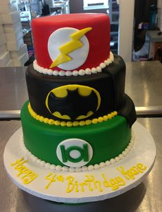 I love this cake but I want wonder woman, flash and then green lantern as my layers.