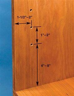 spacing for shelf pin holes