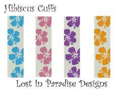 two+drop+peyote+stitch+patterns | Peyote Bracelet Pattern Hibiscus (Buy 2 get 1 Free)