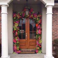 Spring Door Surround. My typical work day at the office.... Or your home :-)