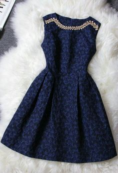 Dark blue elegant royal prom dress