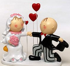 Figura tarta Pit & Pita tres corazones
