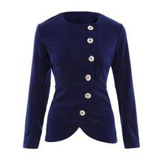 Asymmetric Button Up Blazer