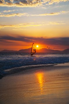 Windsurfer, Barra da Tijuca, Rio de Janeiro, Brazil - will surf there.never give up hope, wave. Be there ASAP:) Beautiful Sunrise, Beautiful Beaches, Travel Pictures, Cool Pictures, Amazing Sunsets, Strand, Trip Planning, Places To Go, Scenery