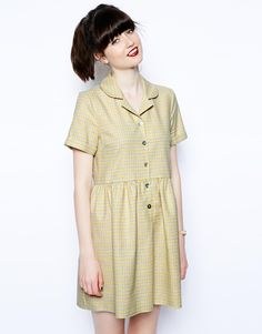 ASOS Reclaimed Vintage Dress In Check http://asos.to/ODjSam