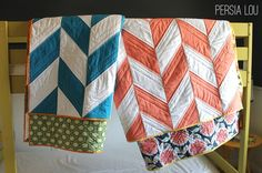I am weak when it comes to the herringbone quilts! ///// Persia Lou: Herringbone Quilts Part Two