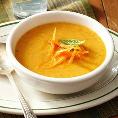Roasted Carrot Soup from Diabetic Living magazine