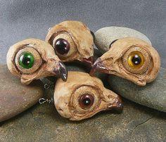 Faux Owl Skulls by malodora