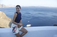 BORN AND BREAD: Sailing in Santorini {Outfit Post} #nautical #shorts #greece