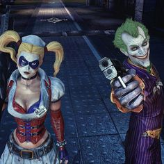 """""Crazy Little Thing Called Love: Harley Quinn + The Joker"" - An Arkham Romance: Both The Joker and Harley Quinn played pivotal roles within the Batman…"""