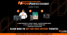 Howdoo Tech Giveaway - Win a Canon Powershot Camera or iPad or GoPro New Social Network, Lottery Tickets, Blog Writing, Holidays And Events, Gopro, Blockchain, Fun Projects, Audio Books, Giveaway