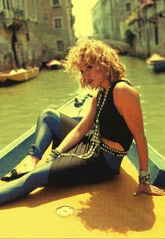Madonna was a major fashion influence in the 1980's. She introduced the concept of wearing short skirts over leggings worn with large accessories.