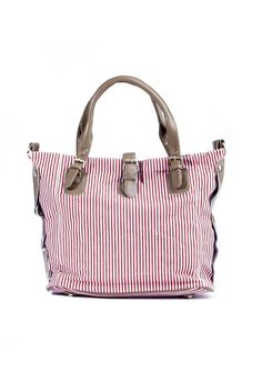 A nautical-inspired handbag by Blackcherry is ideal for a day at the mall.