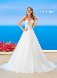 Kitty Chen Couture - H1658 / ZOEY | Jaehee Bridal Atelier    #ballgown #sweetheart #strapless #embellished #bridal #weddingdress