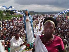 """The dedication of the Shrine of Our Lady of Kibeho in 2003. The Church-approved apparitions is turning Kibeho into the """"Lourdes of Africa."""""""