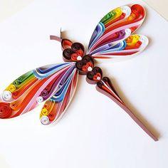 Piquants papier dArt: Libellule colorée libellule par Gericards