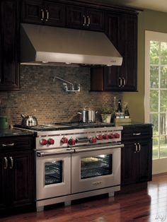 """Wolf DF486GX 48"""" Pro-Style Dual-Fuel Range with 6 Dual-Stacked Sealed Burners, 4.5 cu. ft. Dual Convection Main Oven, Self-Clean, Infrared Griddle, Temperature Probe and Pivoting Hidden Touch Controls"""