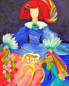Menina Stephanie oil on canvas / Mixed Technique 85x65  buy at www.maiterodriguez.es