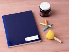 Cómo forrar cuadernos con pintura para pizarrón