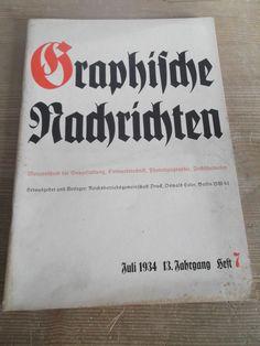 Cover Graphische Nachrichten, Heft 7, Juli 1934