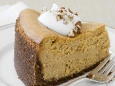 Almost-Famous Pumpkin Cheesecake from #FNMag  #Thanksgiving #ThanksgivingFeast #Dessert