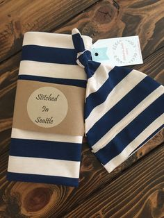 Sale Baby Swaddle Blanket Set with Knot Top by StitchedinSeattle