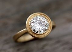 Yellow Gold Engagement Ring #engagementrings #engagement #engagementjewelry