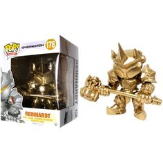 Overwatch Funko POP! Games Custom Gold Reinhardt Vinyl Figure [Super-Sized] Funko Pop Toys, Funko Pop Figures, Vinyl Figures, Action Figures, Overwatch Pop Vinyl, Best Funko Pop, Pop S, Pop Games, Designer Toys