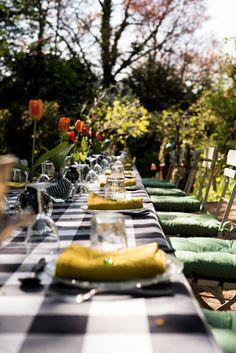 Lunch in the garden.