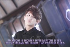 """""""My height is shorter than everyone else's, but my dreams are bigger than everyone else's."""" ~""""B2ST's"""" Yoseob"""