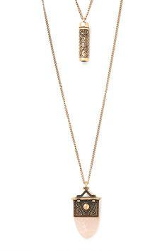 Faux Stone Necklace Set