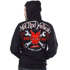 Hotrod Hellcat Jacke/Hoodies Devil.Tattoo,Biker,Oldschool,Rockabilly,Custom Styl